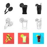 Vectorontwerp van koffie en Latijns symbool Reeks van koffie en nationaal voorraadsymbool voor Web vector illustratie