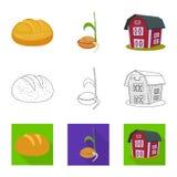 Vectorontwerp van landbouw en de landbouwteken Reeks van landbouw en installatie vectorpictogram voor voorraad vector illustratie
