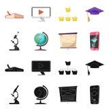 Vectorontwerp van onderwijs en het leren teken Reeks van onderwijs en de vectorillustratie van de schoolvoorraad vector illustratie