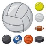 Vectorontwerp van sport en balpictogram Reeks van sport en atletisch voorraadsymbool voor Web stock illustratie