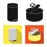 Vectorontwerp van stortplaats en soortpictogram Inzameling van stortplaats en troepvoorraadsymbool voor Web stock illustratie