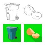 Vectorontwerp van stortplaats en soortsymbool Reeks van stortplaats en de vectorillustratie van de troepvoorraad royalty-vrije illustratie