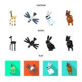 Vectorontwerp van stuk speelgoed en wetenschapssymbool Reeks van stuk speelgoed en stuk speelgoed voorraadsymbool voor Web vector illustratie