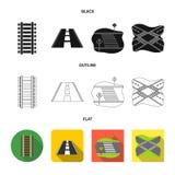 Vectorontwerp van weg en straatpictogram Inzameling van weg en weg vectorpictogram voor voorraad royalty-vrije illustratie