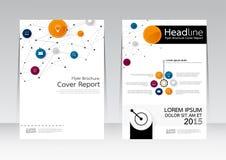 Vectorontwerp voor de Affiche van de de Brochurevlieger van het Dekkingsrapport in A4 grootte Royalty-vrije Stock Afbeeldingen