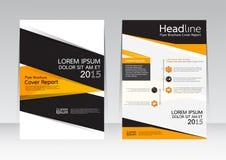 Vectorontwerp voor de Affiche van de de Brochurevlieger van het Dekkingsrapport in A4 grootte Royalty-vrije Stock Foto's