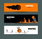 Vectorontwerpen voor basketbal Stock Afbeelding