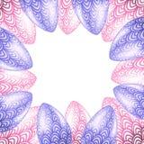 Vectorontwerpsjabloon met realistische paaseieren stock illustratie