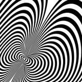 Vectorop kunstpatroon De abstracte achtergrond van de optische illusie stock illustratie
