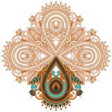 Vectorornament voor het kleuren Royalty-vrije Stock Afbeelding