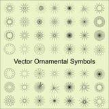 Vectorornamentsymbolen Royalty-vrije Stock Fotografie