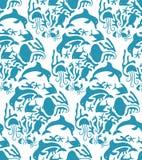 Vectorotomi-Stijl Marine Seamless Pattern Stock Fotografie