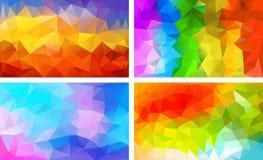 Vectorpak lage poly kleurrijke kleur als achtergrond vector illustratie