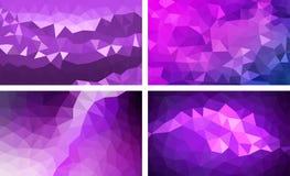 Vectorpak lage poly purpere kleur als achtergrond stock illustratie