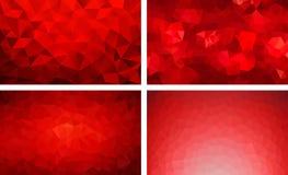 Vectorpak lage poly rode kleur als achtergrond vector illustratie