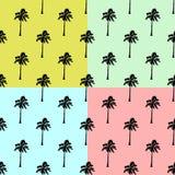 Vectorpalmen Geplaatst Achtergrond - het Naadloze palm vectorpatroon plaatste op een kleurenachtergrond, Hawaiiaanse textiel royalty-vrije illustratie