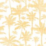 Vectorpalmen gouden textiel naadloos patroon stock illustratie