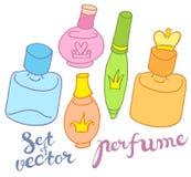 Vectorparfumflessen Royalty-vrije Stock Foto