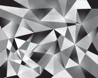Vectorpatroon als achtergrond, witte zwarte driehoek Royalty-vrije Stock Fotografie