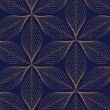 Vectorpatroon, die grunge lijn van abstracte bloem of bladeren herhalen Royalty-vrije Stock Foto's