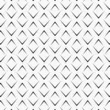 Vectorpatroon die zwarte hoekijzers op witte achtergrond herhalen Chevrons abstract ornament Modern Japans kammosselenmotief stock illustratie