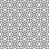 Vectorpatroon, geometrische naadloze eenvoudige zwart-witte textuur Stock Fotografie