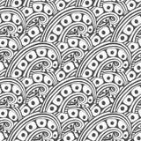 Vectorpatroon met abstract ornament Volwassen kleurende boekpagina Zentangle naadloos ontwerp Royalty-vrije Stock Afbeeldingen