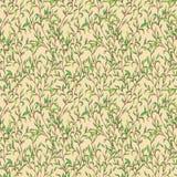 Vectorpatroon met bladeren Royalty-vrije Stock Afbeeldingen