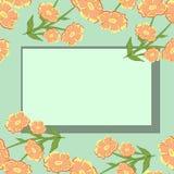 Vectorpatroon met bloemen stock illustratie