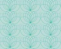Vectorpatroon met contour van waterlelies of lotos stock illustratie