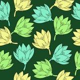 Vectorpatroon met saffrons stock illustratie
