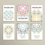Vectorpatroon mooi patroon op gedrukt product Ontwerp voor boeken, banners, pagina's reclame Stock Afbeeldingen