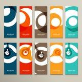 Vectorpatroon tien met abstracte cijfersbrochures Stock Afbeelding