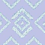 Vectorpatroon van bladeren Stock Afbeelding