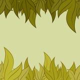 Vectorpatroon van bladeren Stock Afbeeldingen