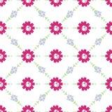 Vectorpatroon van bloemen, takjes en bladeren royalty-vrije illustratie