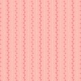 Vectorpatroon van de de lente het naadloze schets Roze takjes en beige lijnenachtergrond De hand getrokken illustratie van de tak Royalty-vrije Stock Foto's