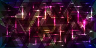 Vectorpatroon van flikkerende sterrige hemel in lilac en roze kleuren royalty-vrije illustratie