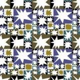 Vectorpatroon van geometrisch mozaïekpatroon met sterren Royalty-vrije Stock Fotografie