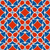 Vectorpatroon van geometrische vormen De naadloze textuur van het mozaïek Stock Foto's