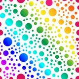 Vectorpatroon van het herhalen van multi-colored cirkels Naadloze tekst Royalty-vrije Illustratie