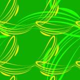Vectorpatroon van lichtgroene en gele lijnen voor achtergronden stock illustratie