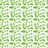 Vectorpatroon van struiken Struiken eenvoudige vorm Stock Foto's