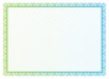 Vectorpatroon voor munt en diploma's Stock Afbeeldingen