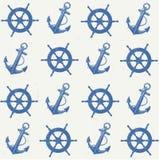 Vectorpatroon zeevaart Stock Foto's
