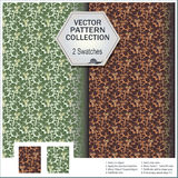 Vectorpatrooninzameling die 2 monsters van leav omvat Royalty-vrije Stock Afbeeldingen