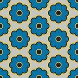 Vectorpatroonontwerp, Bloemenstof, Geometrische Achtergrond Royalty-vrije Stock Afbeeldingen