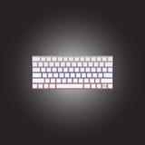 Vectorpictogram van gekleurd toetsenbord Stock Afbeeldingen
