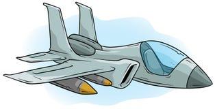 Vectorpictogram van Jet Fighter van de beeldverhaal het koele lucht royalty-vrije illustratie