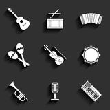 Vectorpictogram van muzikaal materiaal Stock Afbeelding